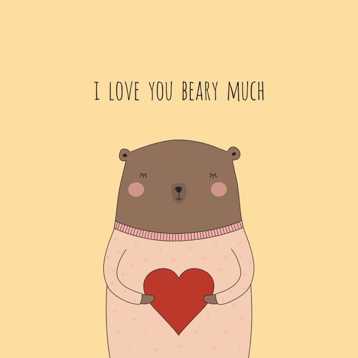 I LOVE YOU BEARY MUCH Comforters