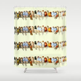 "Hector Giacomelli ""A Perch of Birds"" Shower Curtain"