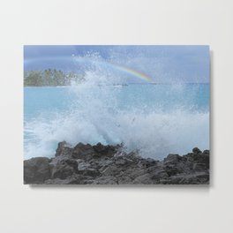 Rainbow Sea Metal Print