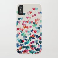 hearts iPhone & iPod Cases featuring Heart Connections - watercolor painting by micklyn