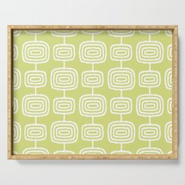 Mid Century Modern Atomic Rings Pattern 731 Chartreuse Serving Tray
