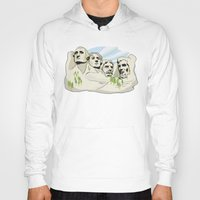 rushmore Hoodies featuring Mont Rushmore - United States by Guixarades