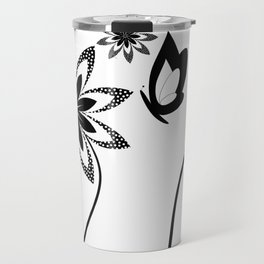 Pollination in black and white Travel Mug