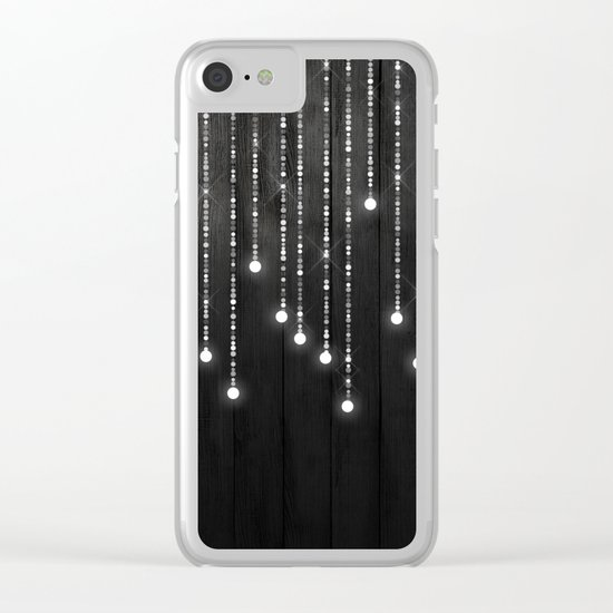 Fairy Lights on Wood 04 Clear iPhone Case