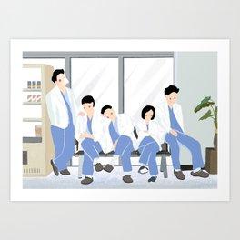 Hospital Playlist Artwork Art Print