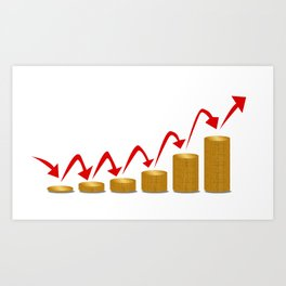 Rising Money Steps Art Print