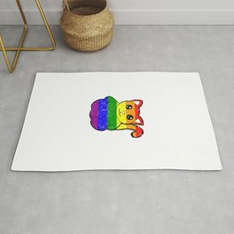 Distressed Rainbow Cat Rug