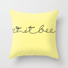 Let it BEE Throw Pillow