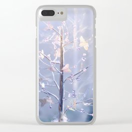 BUTTERFLIES AND BEADS Clear iPhone Case