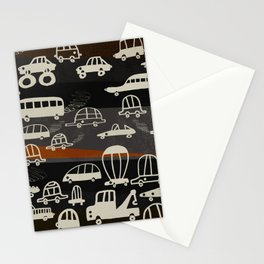 automobiles in a jam Stationery Cards