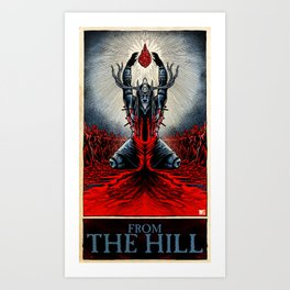 From The Hill (color) Art Print