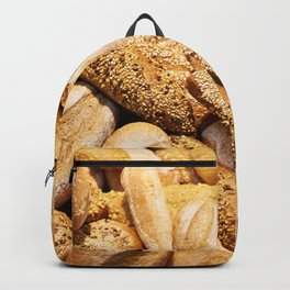 Bread baking rolls and croissants Backpack