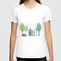 ski T-shirts featuring Ski house by Polkip