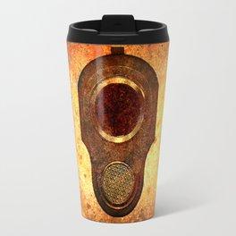M1911 Muzzle On Rusted Background Travel Mug
