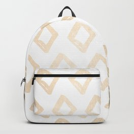 Gold Diamond Design Backpack