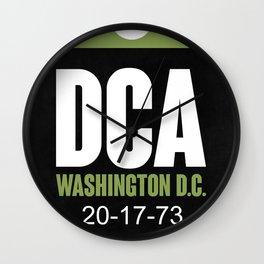 DCA Washington Luggage Tag 2 Wall Clock