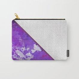 Abstract violet lilac white watercolor paint splatters Carry-All Pouch