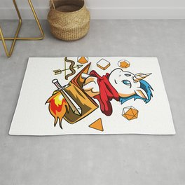 Gamer Unicorn Dungeon RPG Tabletop funny gift Rug