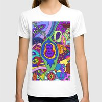 psychadelic T-shirts featuring Abstract 18 by Linda Tomei