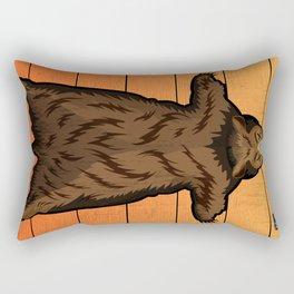 Bear Skin Rug Rectangular Pillow