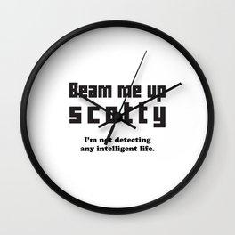 Beam Me Up Wall Clock