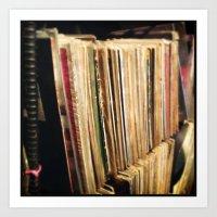 vinyl Art Prints featuring Vinyl by strentse