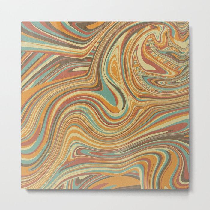 Rainbow Marble Organic Texture Metal Print