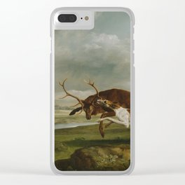 George Stubbs  -  Hound Coursing A Stag Clear iPhone Case