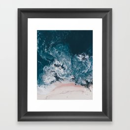 I love the sea - written on the beach Framed Art Print