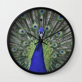 The Proud Peacock Wall Clock