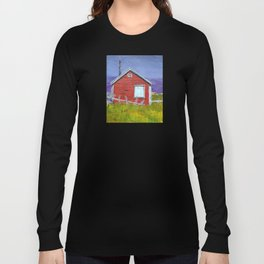 Red house in Newfoundland Long Sleeve T-shirt