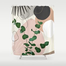 Eucalyptus Fan Palm Finesse #1 #tropical #decor #art #society6 Shower Curtain
