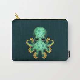 Cute Green Baby Octopus Carry-All Pouch