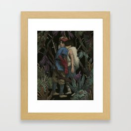 Life is suffering. It is hard. The world is cursed. But still, you find reasons to keep living. Framed Art Print
