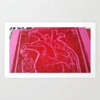 Gooey Heart Art Print