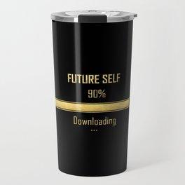 Future Self Download Black | Manifestation Alignment Spiritual Quote Travel Mug