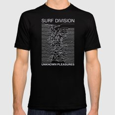 SURF DIVISION Black LARGE Mens Fitted Tee