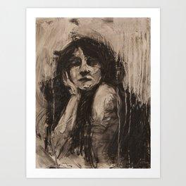Head Study, Looking Art Print
