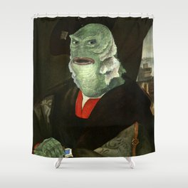 Creature from the Italian Renaissance: Giuliano De Medici meets Black Lagoon Shower Curtain