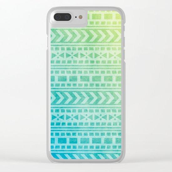 Aztec Pattern 07 Clear iPhone Case