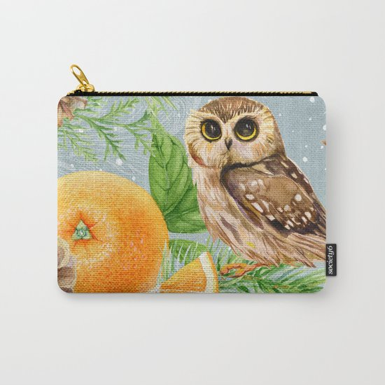 Winter animal #10 Carry-All Pouch