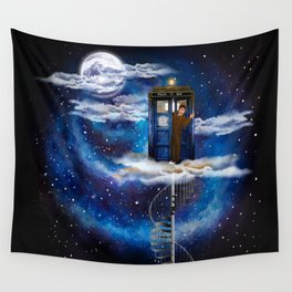 10th Doctor Live on The Cloud in The BOX Wall Tapestry