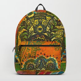 Boho & Batik Hamsa Backpack