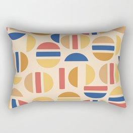 Mid Century Mod Half Circle Pattern Rectangular Pillow