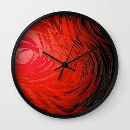 Complex Spiral2-Red Wall Clock
