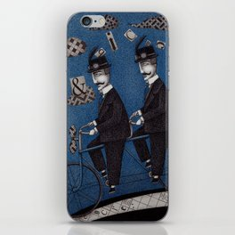 Two Men Travelling iPhone Skin