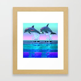 Dolphin Jitter Framed Art Print