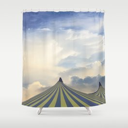 Turrets in the Clouds Shower Curtain