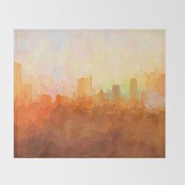 Austin, Texas Skyline - In the Clouds Throw Blanket
