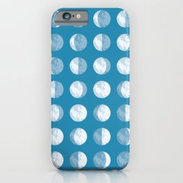 Textured Moon Phases Pattern iPhone Case